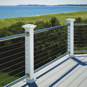 Stainless Steal Cable railing Atlantis Rail Rail-easy Finyl Sales