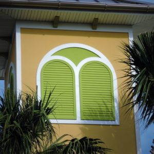 Louvers made by Finyl Sales Inc. Cellular PVC CPVC