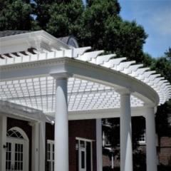 Pergola made of cellular PVC by Finyl Sales Inc