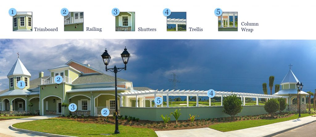 Trimboard, Railing, Shutters, Trellis and Column Wraps