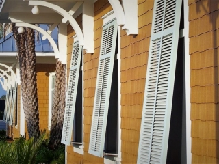 Bahama Aluminum Shutters made by Finyl Sales, Inc.