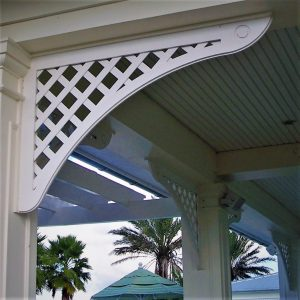 Brackets made of cellular PVC by Finyl Sales Inc.